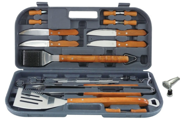 Mr. Bar-B-Q 20-Piece Tool Set With Bonus Light $12.25!  Down From $41.99!