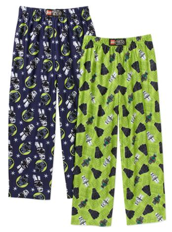 LEGO Star Wars Boys' Licensed Sleep Pants, 2 Pack Just $4.00! Down From $11.97!