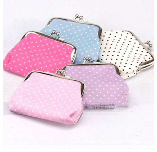polka dot change purse