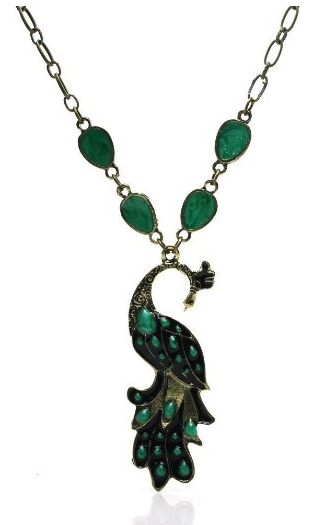 peacock chain necklace