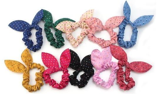 10 Piece Rabbit Ear Hair Ties Only $2.01 + FREE Shipping!