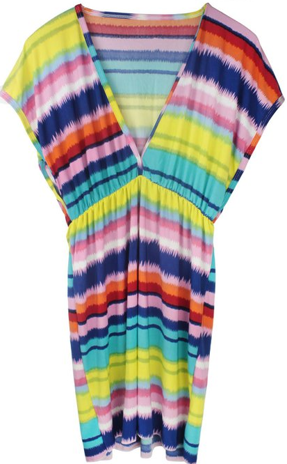 v-neck swimsuit cover-up