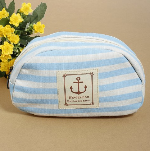 Striped Cosmetic Bag Only $2.61 + FREE Shipping!