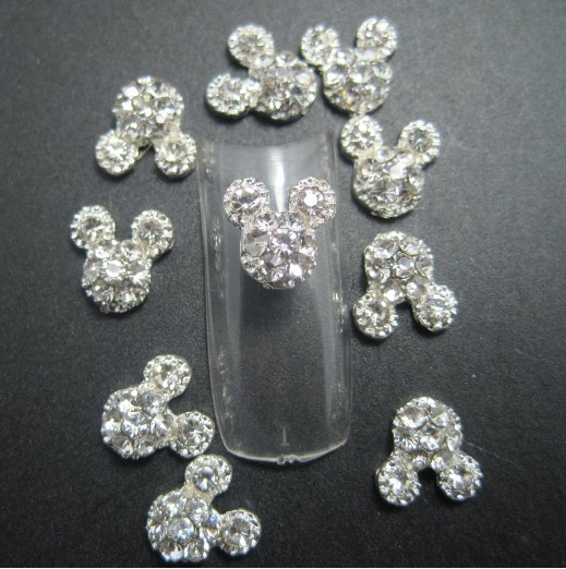 Mickey Mouse Rhinestone Nail Art $2.20 SHIPPED!