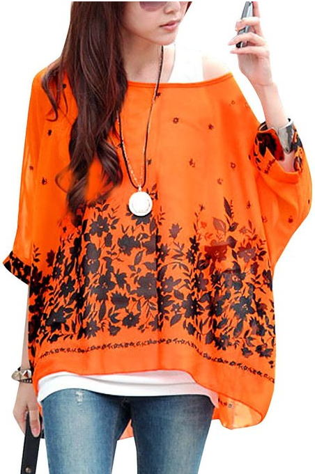 Ladies batwing shirt