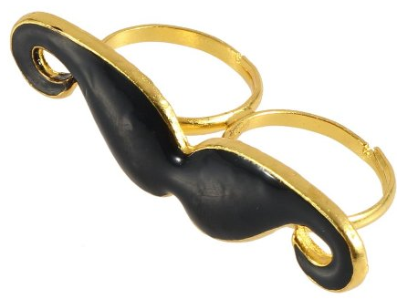 Mustache Ring