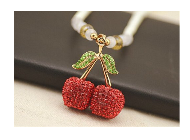 Elegant Red Cherry Pendant Necklace Only $2.99 With FREE Shipping!