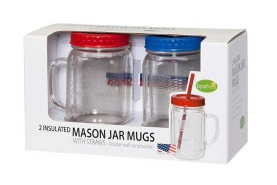 Clear Mason Jar, 2-Pack Just $6.96 Down From $16.00 At Walmart!