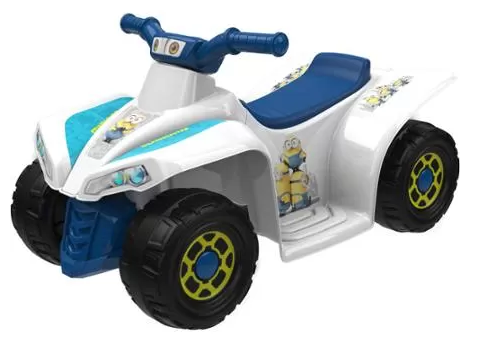 Minions 6-Volt Little Quad Electric Battery-Powered Ride-On Just $49.00! Down From $89.97!