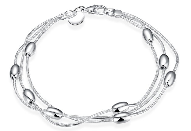 FREE Sterling Silver Elegant Oval Beads Chain! Down From $99.99!