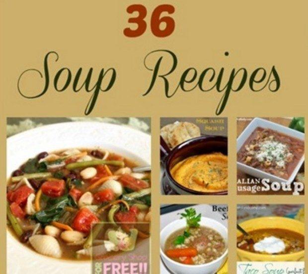 36 Soup Recipes Roundup!