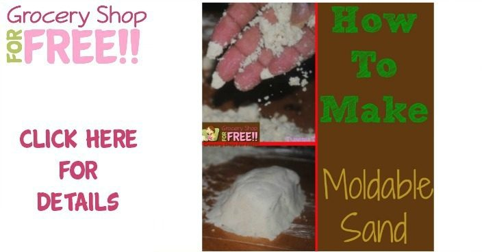 How To Make Moldable Sand!