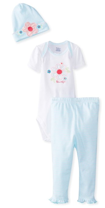 Gerber Baby-Girls Newborn 3 Piece Bodysuit Only $6.22!