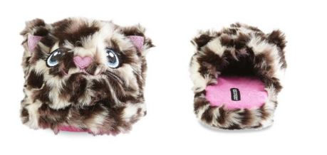Joe Boxer Girl's Kitty Brown/Tan Scuff Slipper Just $4.89! Down From $24.00!