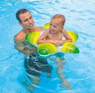 Intex Star Inflatable Swimming Pool Tube Raft Swim Ring Just $7.99! Down From $19.99!