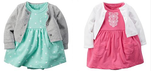 Carter's Baby Girl Cardigan Dress Sets Only $9.90! Down From $24.00! Plus FREE Carter's Bodysuit!