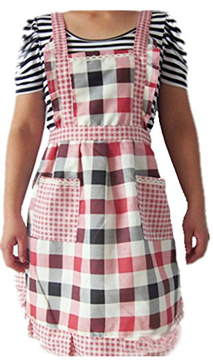 Black and Red Checked Apron