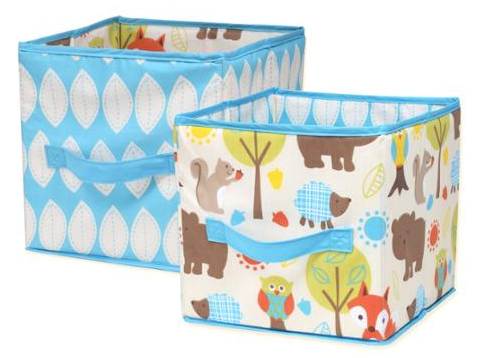Pinwheel Woodlands Collapsible Storage Bin, 2-Pack