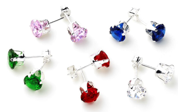 5 Pairs: 5ctw Gemstone 6mm Studs Just $9.99! Down From $180!