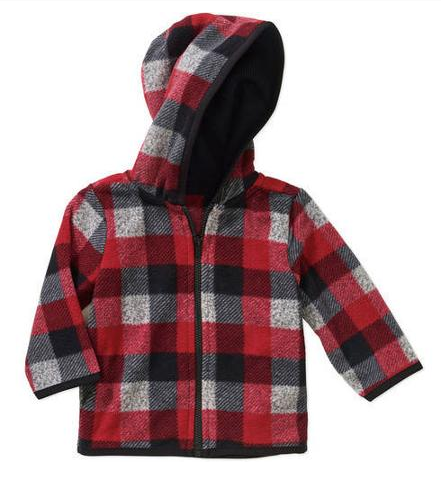 Garanimals Newborn Baby Boy Printed Microfleece Hood Just $2.00 At Walmart!