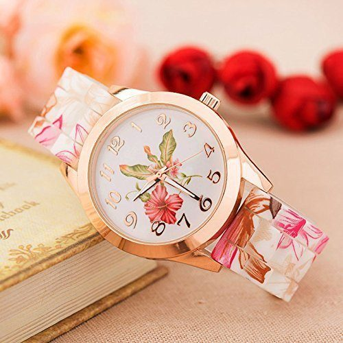 Silicone Printed Flower Watch Only $4.79 + FREE Shipping!