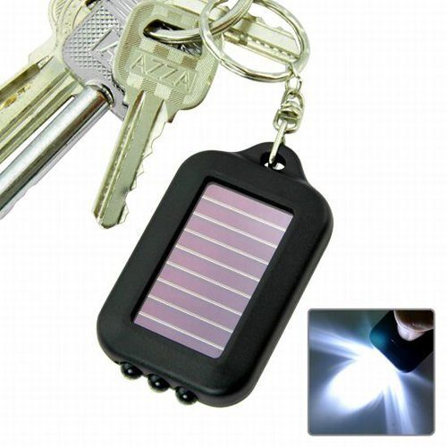 Solar-Powered LED Flashlight With Keychain Only $3.26 + FREE Shipping!
