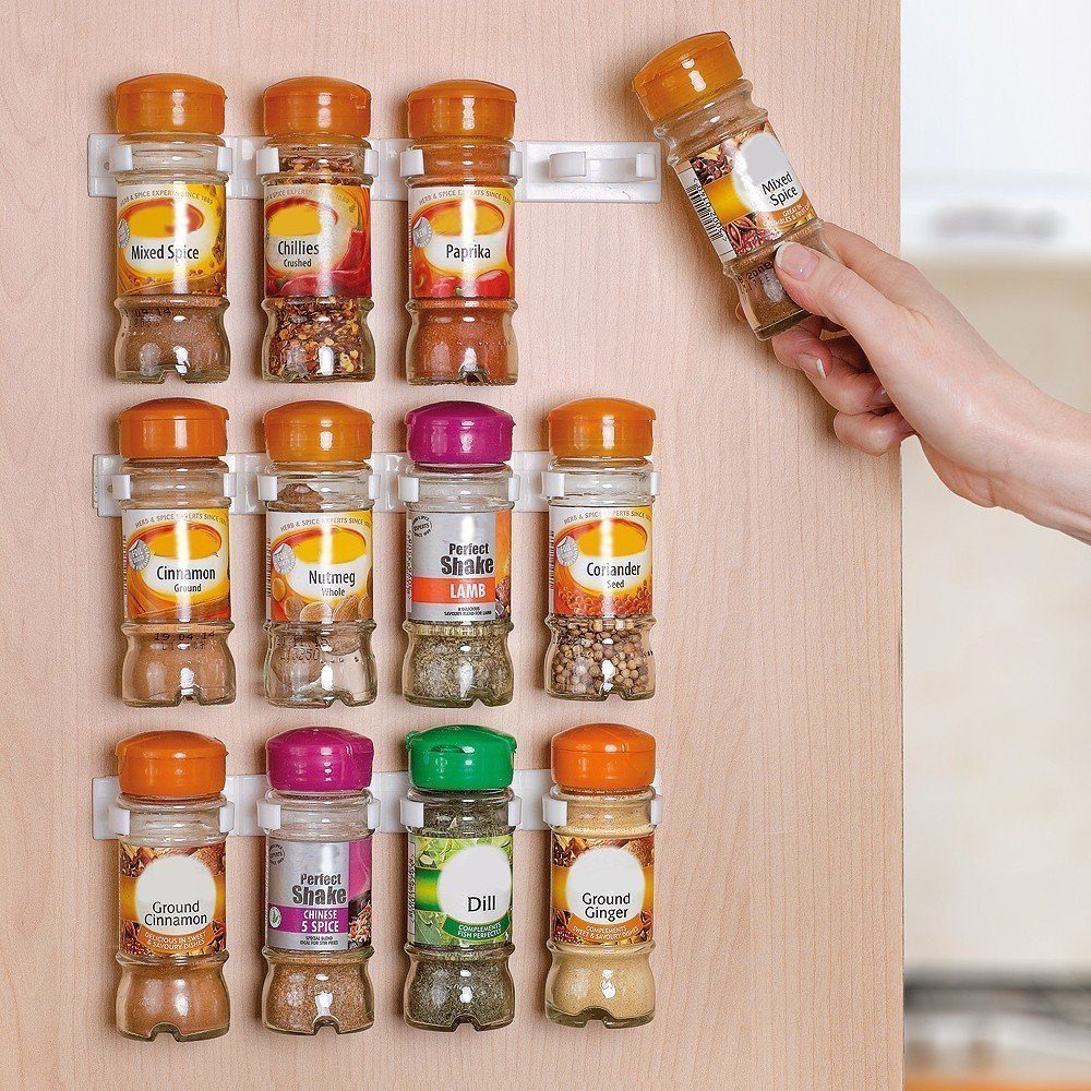 Spice Rack Organizer for Cabinet Doors