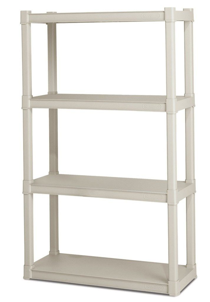 Sterilite 4-Shelf Shelving Unit, Platinum