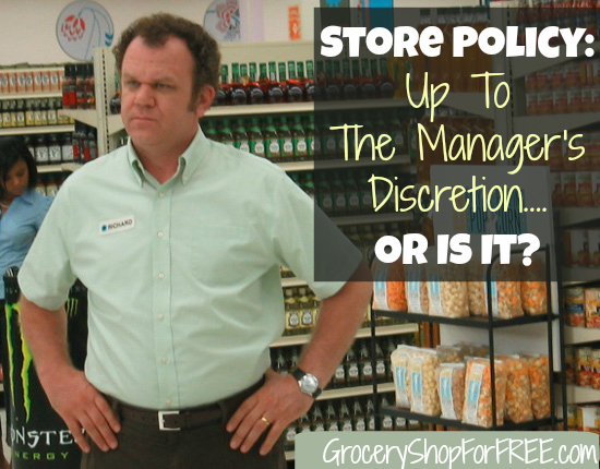 Store Policy Up To The Manager's Discretion Or Is It