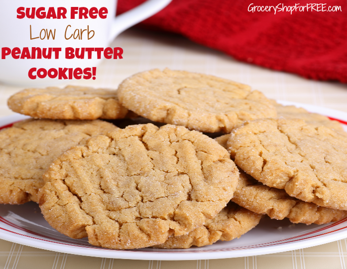 Looking for sugar free lowcarb cookies? Check out this delicious Peanut Butter Cookie Recipe. Click through NOW to get started... #peanutbutter #dessert #baking #yummy ##sugarfree #lowcarb #cookies #GSFF