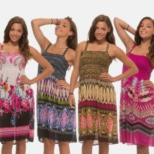 4 Pack Women's Floral Print Sundresses Only $24.99!