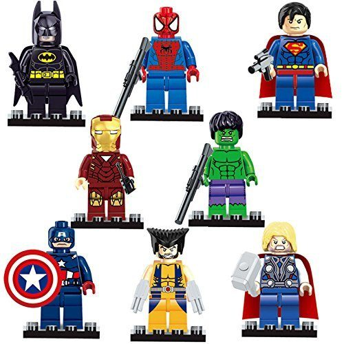 Set of 8 Superhero Mini Figures - Lego Compatible Just $5.33 + FREE Shipping!