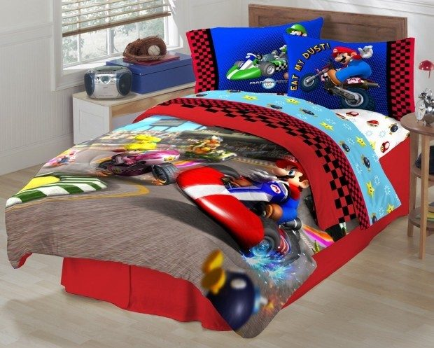 Super Mario The Race Is On Sheet Set $15 + FREE Shipping with Prime!