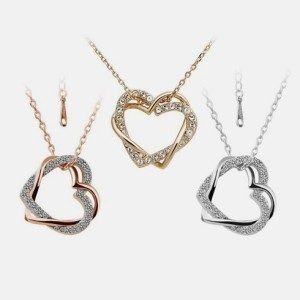 Open Heart Necklace With Swarvoski Elements Only $8.99 Shipped!