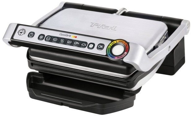 T-fal OptiGrill Stainless Steel Indoor Electric Grill with Removable and Dishwasher Safe Plates - $99.99 Shipped! (reg. $249.99)