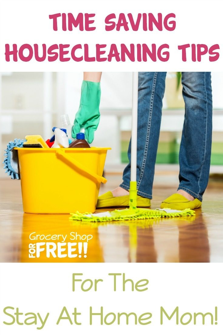 House cleaning however, does not need to be a large burden! You can make it easier for yourself with these fabulous Time Saving Housecleaning Tips For The Stay At Home Mom
