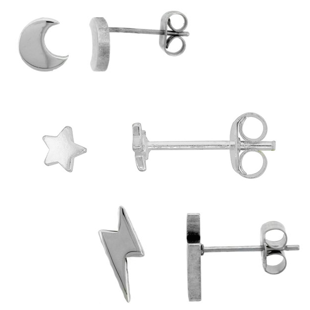 Tiny Sterling Or Stainless Stud Earrings As Low As $7.95 Ships FREE!