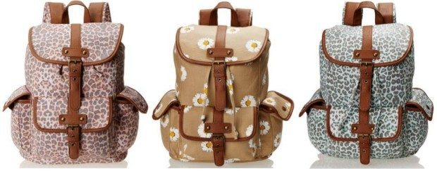 Wild Pair Printed Canvas Backpack With Faux Leather Trim Just $10 Down From $67!