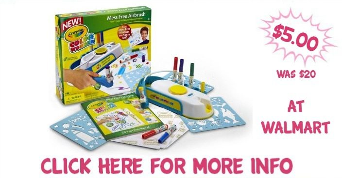 Crayola Color Wonder Mess-Free Airbrush Kit Just $5! Down From $20!