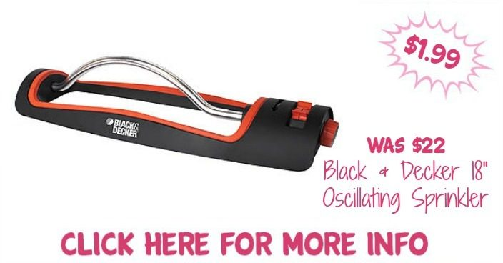 "Black & Decker 18"" Oscillating Sprinkler Just $1.99! Down From $22!"