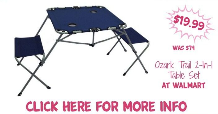 Ozark Trail 2-In-1 Table Set Just $19.99! Down From $74!