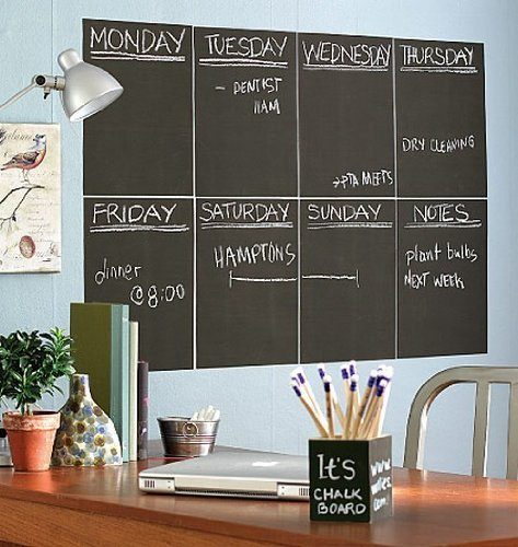 Wallies Peel and Stick Chalkboard Sheet, Slate Gray, Set of 4 Just $2.90 + FREE Shipping!