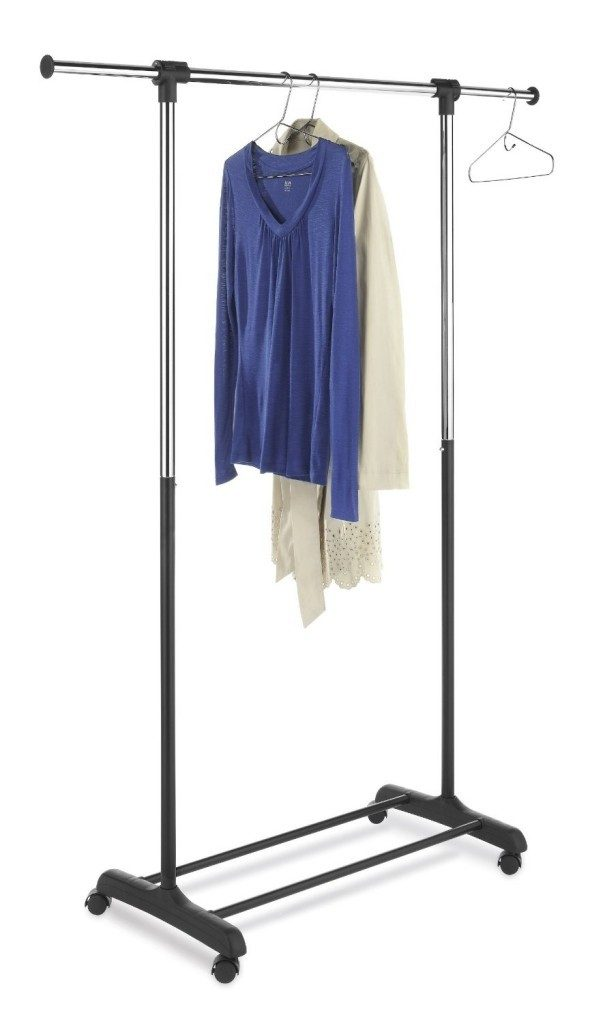 Whitmor Ebony Chrome Collection Extendable Garment Rack Just $12.78! Best Price!