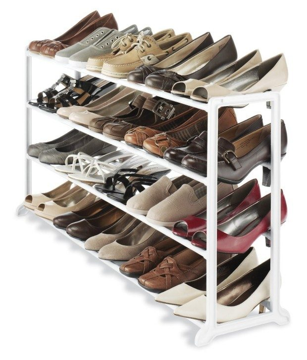 Whitmor White Resin 20 Pair Shoe Rack Just $13.16! (reg. $25.99)