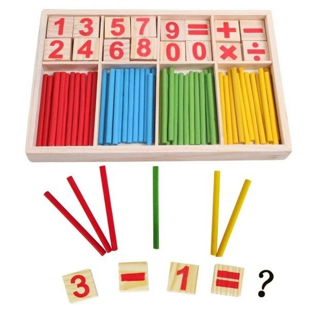 Wooden Number Cards and Counting Rods with Box Just $5.99 + FREE Shipping!