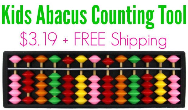 Portable Plastic Abacus Calculating Tool Only $3.19 + FREE Shipping!