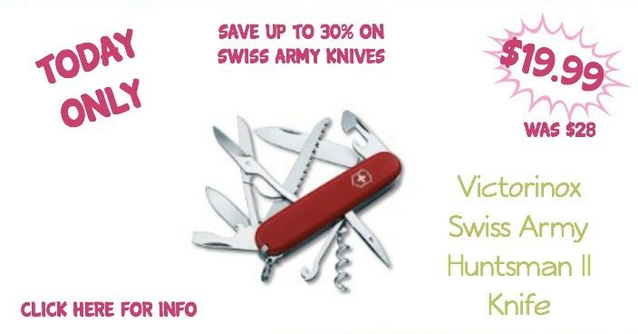 Save Up to 30% On Swiss Army Knives – Knives Start At $9.99!