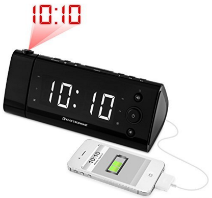 Electrohome® USB Charging Alarm Clock Radio With Time Projection Just $27.96!  FREE Shipping!