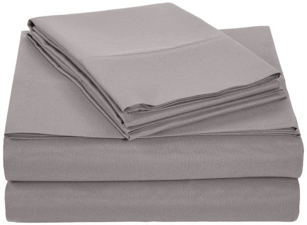 AmazonBasics Microfiber Sheet Set - Queen, Dark Grey Just $16.99!