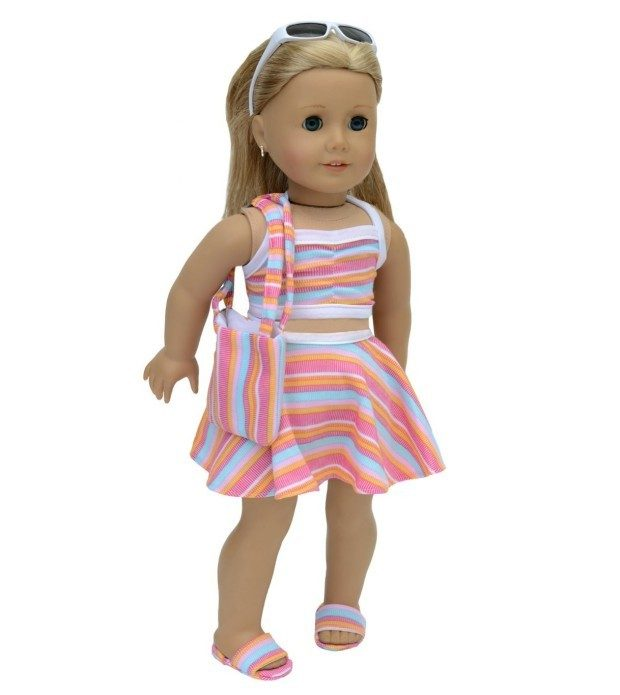 Swimsuit 6 Piece Set For American Girl Dolls Only $7.95! (Reg. $24)